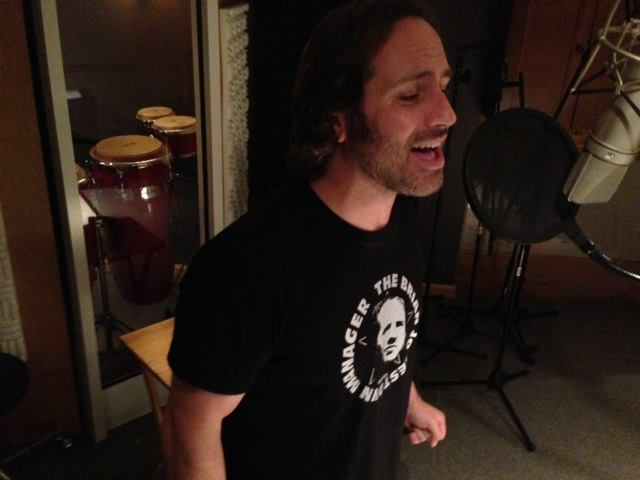 Scott Norton at the mic, recording a new Avenue C track at CAS Music