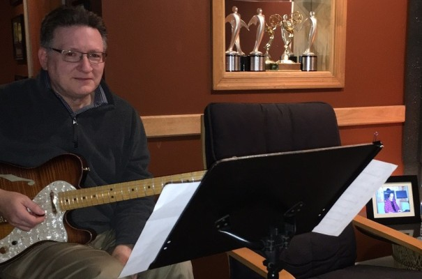 Jazz guitarist Herb Moore was in this week tracking for Chris' new Avenue C album.