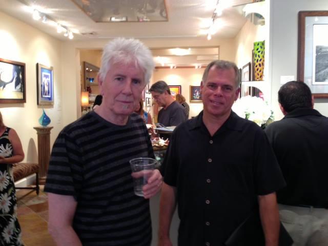 Graham Nash & Chris Orazi at Ocean Galleries.
