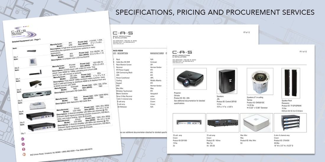 Audio-Visual Design Specifications